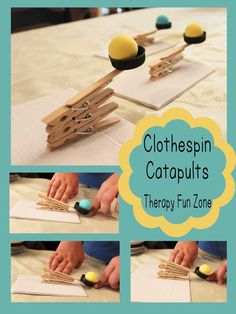 build a catapult with a kit or with clothespins.