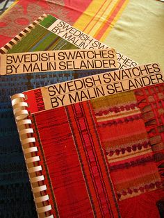Malin Selander | Swedish Swatches | weaving drafts & instructions | Yellow Series (1962) + Blue Series (1969) + Red Series (1974) + Green Series (1978) | studied   weaving at Nordenfelt Seminary for Handwork in Gothenburg, Sweden | head instructor at the Weaving School of Örebro, Sweden l955