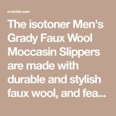 The isotoner Men's Grady Faux Wool Moccasin Slippers are made with durable and stylish faux wool, and feature a collapsible heel for versatile comfort. Step on the heel for easy on-the-go convenience, or wear it up like a comfortable hug. Moccasins, Slippers, Heels, How To Wear, Men, Loafers, Sneakers, Slipper, Shoes Heels