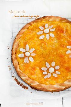 Mazurek pomarańczowy | Moje Wypieki