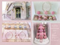Pink Paris...Laduree.. Laduree Gift Set.. Paris Macarons and Patisserie Tea Shop