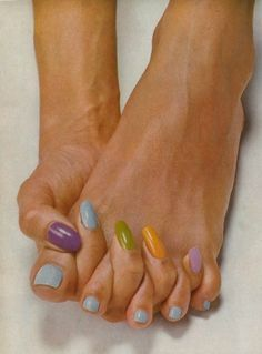 """christopherniquet: """" rainbow nails, from a british vogue. photographed by irving penn """" Irving Penn, Fashion Fotografie, Vintage Nails, Nail Envy, Rainbow Nails, Vogue Uk, Portraits, Beauty Editorial, Back To Nature"""