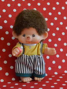 Collectible Sekiguchi Monchhichi Doll by VintageToysForAll on Etsy Doll Toys, Dolls, Star Cards, Little Twin Stars, Plushies, Hello Kitty, Im Not Perfect, Chic, Handmade