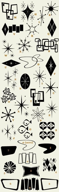 Mid-Century Modern style graphics – http://thepinuppodcast.com re-pinned this because we are trying to make the pinup community a little bit better.