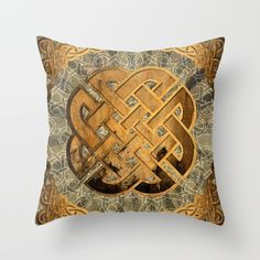 knots 1 Celtic knots on a rusten grunge background Celtic Knots, Iceland, Vikings, Grunge, Cushions, Throw Pillows, Norway Design, Interior, Anime