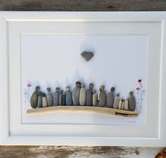 Pebble art family, large family picture, family 20 persons, family christm picture, anniversary gift, christmas family gift, 50 anniversa
