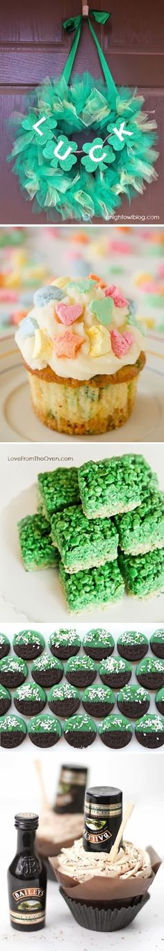 St. Patricks Day is this Monday! Here are some last minute snacks / treats / desserts you can make!