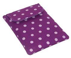 Ipad Mini Cover, Blackberry Playbook Sleeve PURPLE PLUM POLKA DOTS £15.00