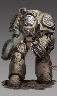 """Tactical Dreadnought armor, A.K.A. """"Terminator Armor"""" from Space Hulk: Deathwatch and Warhammer 40k."""