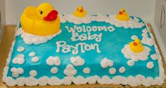 """Photo 16 of 31: Rubber Ducks / Baby Shower/Sip & See """"Welcome Baby Payton!"""" 