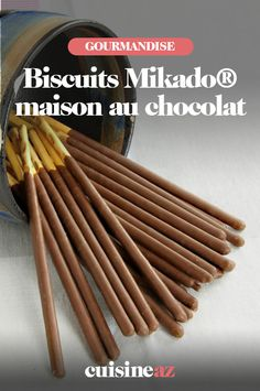 Homemade Mikado® Chocolate Cookies - We offer you a very easy recipe for making Mikado® homemade chocolate cookies. In addition, they a - Fish Recipes, Sweet Recipes, Chocolat Recipe, Cooking Time, Cooking Recipes, Dessert Shots, Homemade Chocolate, Chocolate Cookies, Food Hacks