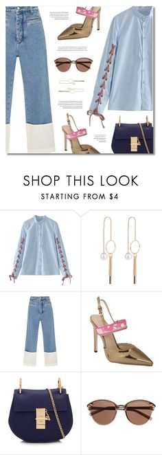 """""""Ordinary (TS; 26/08/17)"""" by defivirda ❤ liked on Polyvore featuring Loewe, Chloé and Witchery"""
