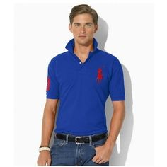 ... Ralph Lauren Red Polo Logo Breathable Blue Short Sleeved http://www.ralph ...