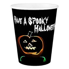 """""""Have A Spooky Halloween"""" Paper Cup - home gifts ideas decor special unique custom individual customized individualized"""