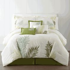 Palm Fronds 7pc Comforter Set - Queen