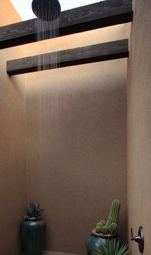 Shower with skylight and beam effect Decor, Furniture, Home, Hardscape, Outdoor Shower, Beams, Inspiration, Bathroom Shower, Bathroom Inspiration