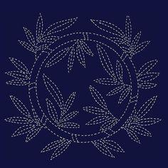 Sashiko pattern: Bamboo