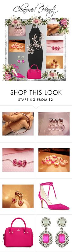 """""""Charmed Heartz"""" by cozeequilts ❤ liked on Polyvore featuring Nine West and Kate Spade"""