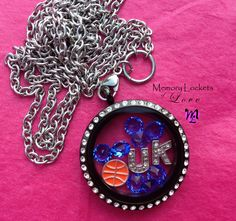 Black UK Basketball Locket