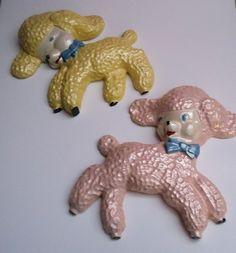 VINTAGE Chalkware Lambs 1950's NURSERY by BabylonSisters on Etsy, $24.00