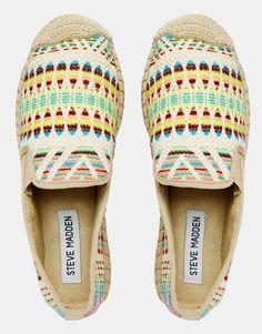 Zapatos planos estilo alpargata con doble suela bordada Vanesa de Steve Madden