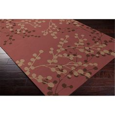Hand-tufted Amador Contemporary Floral Wool Area Rug (9' x 12')