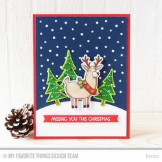 Merry Everything Stamp Set and Die-namics, Stitched Basic Edges Die-namics, Snowfall - Vertical Die-namics, Blueprints 27 Die-namics - Torico  #mftstamps