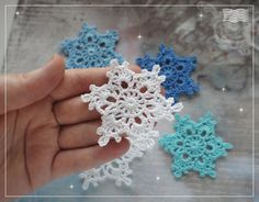 Вязаная крючком снежинка 6шт /crochet snowflake 6 от Uytniidomik