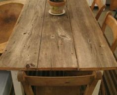 farm table - 3 - 1x12s on a simple base! If you want to build it . . . http://ana-white.com/2010/03/plans-very-rustic-table-and-cool.html