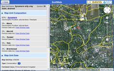 Soil Web by US Davis & NRCS: Interactive map allows you to explore USDA/NCSS Soil survey data for locations throughout most of the US. You can  even download your file and view in Google Earth!