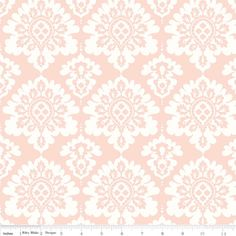 Pretty in Pink Damask Lost & Found Love Laminated Cotton at Modern June, the Oilcloth Addict!