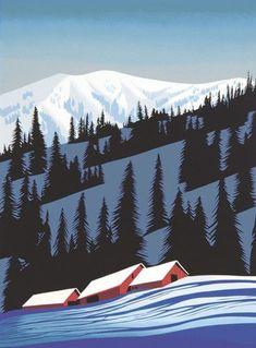 Winter Scene - Eyvind Earle