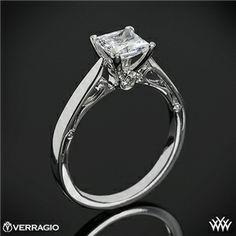 Verragio 4 Prong Princess Solitaire Engagement Ring @Nikole Annie Kaprielian