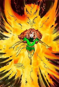 Jean Grey as Phoenix by  John Byrne