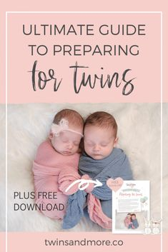 Finding out you are having twins can be a shock! Will you have to buy TWO of everything?  Read our in-depth guide to help you as you start preparing for your twins arrival. Plus grab our FREE Preparing for Twins Guide that you can use to help you start planning for your twins. #twinsandmore #preparingfortwins Twin Mom, Twin Babies, Twin Carrier, Twin Strollers, Expecting Twins, Newborn Twins, Toilet Training, How To Have Twins, Second Baby