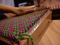 Creative Embroidery, Loom Weaving, Loom Knitting, Rugs, Home Decor, Weaving, Weaving Looms, Yarns, Mariana