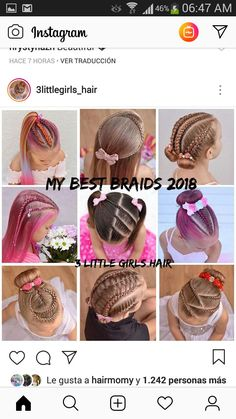 Baby Girl Hairstyles, Cute Hairstyles, My Princess, My Baby Girl, Princesses, I Am Awesome, Braids, Hair Beauty, Bow