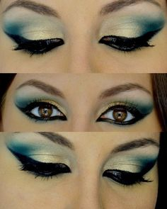 Beautiful dramatic blue smoky eyes. #beauty #makeup #formalapproach