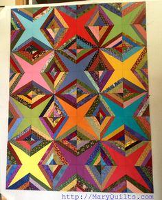 Striking string quilt...