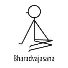 Free 27-page PDF printable with cute stick figure yoga