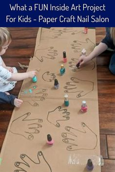 Indoor Arts and Crafts For Kids - What a FUN and easy craft project for your kids (little girls LOVE it) - take construction paper or cardboard and outline their hand prints, draw fingernails and then let them paint the nails like their own nail salon Hand Crafts For Kids, Easy Toddler Crafts, Crafts To Do, Diy Crafts For Kids, Art For Kids, Simple Crafts, Children's Arts And Crafts, Arts And Crafts For Kids Toddlers, Neymar