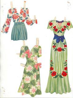 Lana Turner Paper Dolls, 1942 Whitman of Paper Clothes, Clothes Crafts, Doll Clothes, Paper Toys, Paper Crafts, Diy Crafts, Paper Cutting, Paper Dolls Printable, Bobe