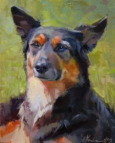 "Daily Paintworks - ""A Wise Man"" - Original Fine Art for Sale - © Oleksii Movchun Custom Dog Portraits, Pet Portraits, Animal Paintings, Animal Drawings, Colorful Paintings, Illustrations, Images, Fine Art, Photos"