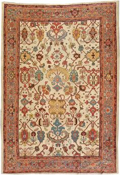 Lot 1092. Sultanabad carpet, West central Persia, late 19th century, approximately 9ft. x 13ft. US$9,000-12,000