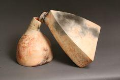 Ceramic sculpture saggar fired.  From cinder and smoke studio (facebook.com/cinderandsmokestudio)