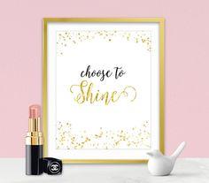 Inspirational Wall Art - Gold Sparkles - Sparkle Quotes - Inspirational Gifts - Sparkle Collection - Gold Home Decor