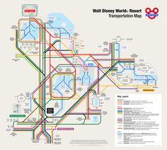 Fantastic WDW Transportation Map!