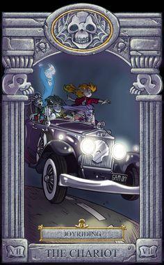 Ghoul School Tarot: Chariot by on DeviantArt Ghoul School, Scooby Doo Movie, Scooby Doo Mystery Incorporated, Anime Muslim, Tarot Major Arcana, Old Cartoons, Cartoon Games, Pretty Pictures, Monster High