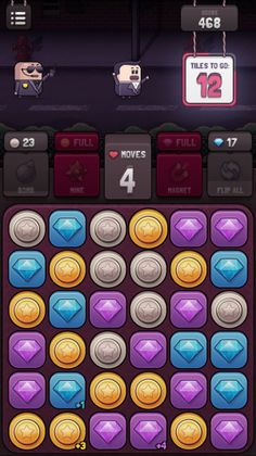 I think that when the world ends and cockroaches roam the Earth in search of Twinkies, there will still be working match-three devices out there. Dulux Trade, Match 3 Games, Game Ui Design, Game Concept Art, Mobile Game, Game Art, Puzzle Games, Advent, Recycling