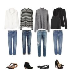 """If the idea of a capsule wardrobe makes you nervous, consider the concept of """"The Five Piece French wardrobe!"""" The guidelines are simple: Make sure you have quality basics across all categories of apparel. ✔️ Limit your new purchases to 5 non-basics per season that add a bit of personality and help your closet feel fresh and fun. ✔️ I love this concept because it offers both limitations and flexibility. What do you think? ✨ coffeestainedcashmere.blogspot.com"""